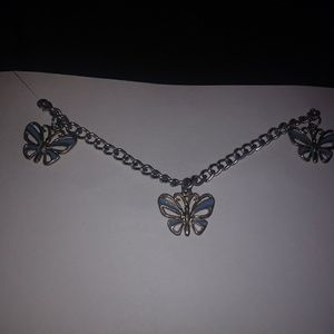 3 butterfly purse chain